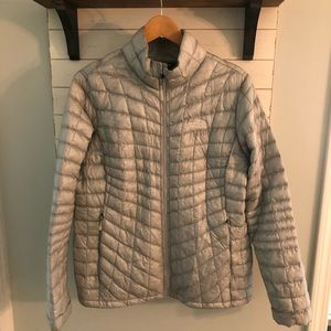 North Face Silver Women's Jacket - size L